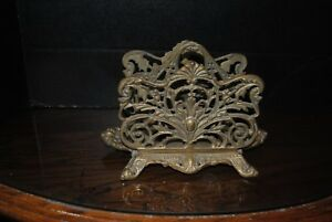 Antique Bradley And Hubbard Brass 3559 And 7039 Double Letter Holder