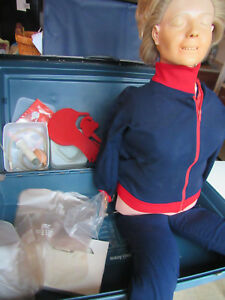 Laerdal Resusci Anne Torso Full Body Cpr Emt Training Manikin Hard Case Norway