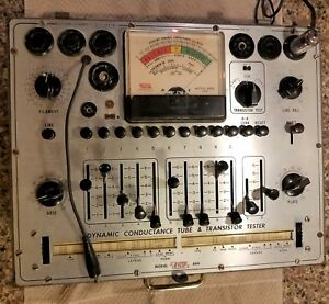 Nice Working Vintage Eico 666 Dynamic Conductance Vacuum Tube Tester