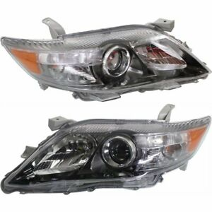 Halogen Headlight Set For 2010 2011 Toyota Camry Se Left Right W Bulbs