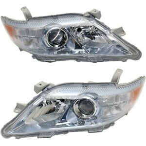 Halogen Headlight Set For 2010 2011 Toyota Camry Left Right Pair
