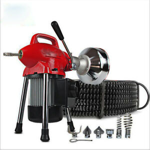 110v Sectional Pipe Drain Electric Pipe Dredging Machine Electric Sewer Pipe