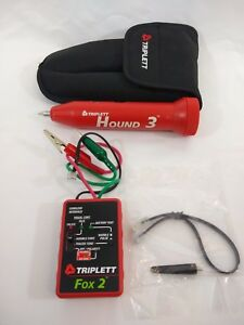 Triplett 3399 Fox 2 Hound 3 Wire Tracing Kit With Carrying Case