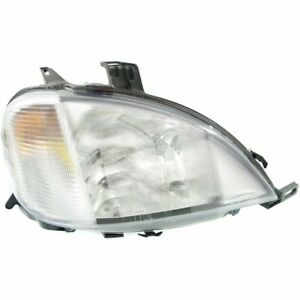 Headlight For 98 2001 Mercedes Benz Ml320 Right Clear Lens Halogen With Bulb