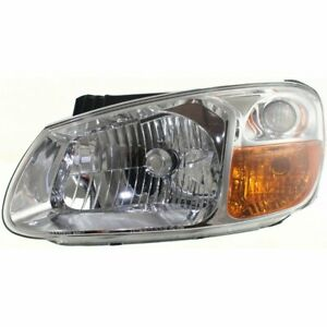 Headlight For 2007 2009 Kia Spectra Left Clear Lens Halogen Composite Type