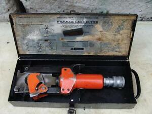 Thomas Betts 367 Hydraulic Cable Wire Cutter 1 6 Od Capacity Greenlee