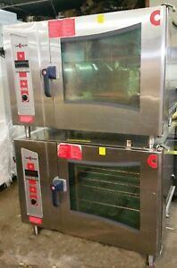 Double Stack Natural Gas Combi Oven Convotherm Steamer Convection Oven Ogs6 20