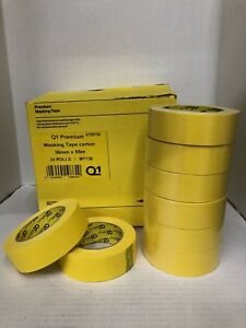 Premium Yellow Automotive Masking Tape Rolls 1 1 2 In 1 Case 24 Rolls