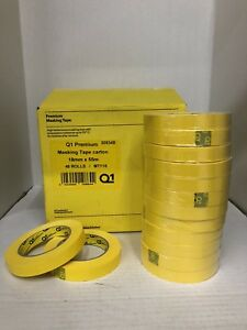 Premium Yellow Automotive Masking Tape Case Of 24 Or 48 Rolls