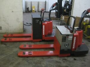 2 Two Raymond Electric Pallet Jacks 6 000 Lb Capacity 48 Forks Batteries
