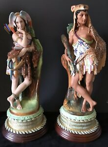 Antique French Old Haviland Museum Pair Of Bisque Figurines Extremely Rare