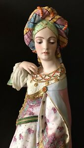 Antique French Jean Gille Bisque Figurine Of Eastern Princess