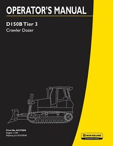 New Holland D150b Dozer Operators Manual