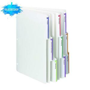 Smead Viewables Three ring Binder Index Dividers 1 3 cut Tab Letter Size Whit
