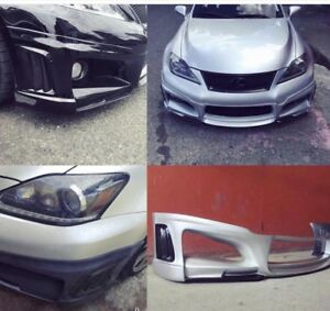 Lexus Isf Wald Style Front Bumper Cover Fiber Glass