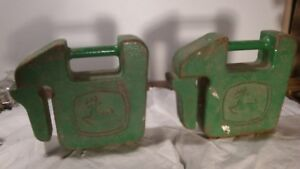 Pair Of John Deere Tractor Suitcase Weights 40lb Each 80 Lb Total