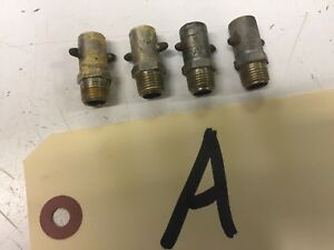 4 Alemite Screw In Type Grease Zerks 1928 Essex Pontiac Chevrolet Will Clean Up