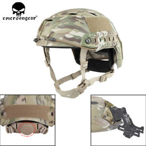 Emerson BJ Type Tactical Fast Helmet Advanced Adjustment Head Size w Side Rail