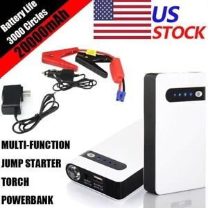 20000mah Portable Car Jump Starter Power Bank Battery Charger Vehicle Engine 12v