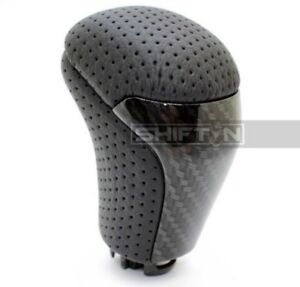 Carbon Fiber Black Leather Gear Shift Knob For Toyota Highlander Tacoma Hlzzp