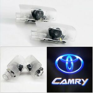 2x For Camry Led Door Step Courtesy Light Laser Shadow Logo Projector Lamp 06 16