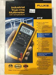 Fluke 87v Industrial True rms Multimeter W temperature