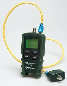 Greenlee Nc 100 Netcat Lan Tester And Utp coax Micro Wiring Tester