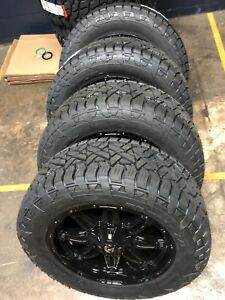 20x9 Fuel D625 Hostage 33 At Wheel And Tire Package 5x5 Jeep Wrangler Jk Jl