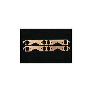 Sce Exhaust Header Gasket 4311 Pro Copper Oval Port For Chevy 262 400 Sbc