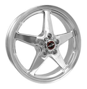 Race Star Wheels Rim 92 Drag Star Direct Drill Polished 18x5 5x4 75 2bs