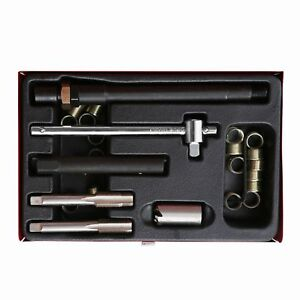 26pc Spark Plug M14 X 1 25 Tap Pro Thread Repair Tool Kit Set W Metal Case A6007