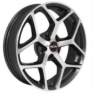 Racestar 95 Recluse Metalic Gray Machined Face 18x10 5 5x115 6 8bs Free Shipping