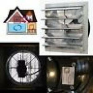 Shutter Mounted Fan Exhaust 20 Automatic Explosion Proof Garage Cool Air Blades