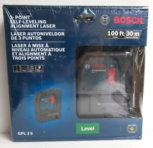 Bosch Gpl 3 S 100 Ft 3 point Self leveling Alignment Laser Brand New