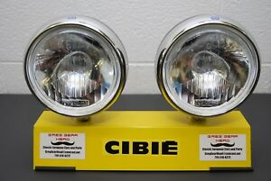 Cibie Super Oscar Replica Sim Pencil Beam Rally Lights Large 7 Round Pair