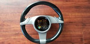 Oem Porsche 911 Pdk Steering Wheel 997 Cayman Boxster Black Leather