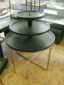 Retail Black Three Tier Merchandise Display Table