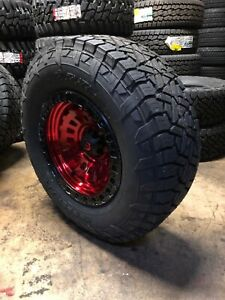 17x9 Fuel D632 Zephyr Red 33 At Wheel And Tire Package 6x135 Ford F150