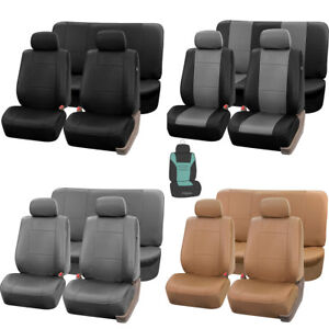 Pu Leather Full Set Seat Covers Set For Auto With Free Gift