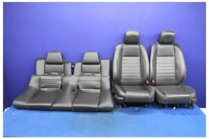 2011 2012 2013 2014 Ford Mustang Gt Leather Coupe Front Rear Seats Hot Rod
