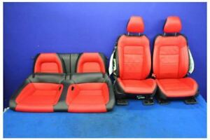 2018 Ford Mustang Gt Red Track Pack Leather Coupe Front Rear Seats Hot Rod