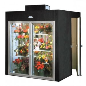 Bush 2 Glass Door Walk In Floral Refrigerator Brand New Never Assembled