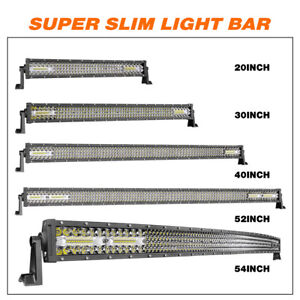 Osram 10d Quad Row Led Light Bar 20 30 40 52 54 Inch Driving Fog Lamp wire