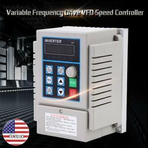 220v 0 75kw Single Phase Variable Frequency Drive Vfd Speed Controller Usa Stock