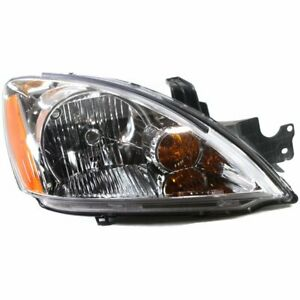 Headlight For 2004 Mitsubishi Lancer Right Wagon With Bulb Clear Lens Halogen