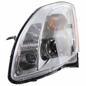 Headlight For 2005 2006 Nissan Maxima Left Clear Lens Chrome Housing Composite