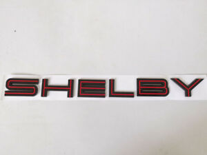 Black Red Shelby Letter Emblem Badge Rear Runk Sticker Decal