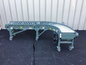 Hytrol Straight Case Conveyor With 90 Degree Curve