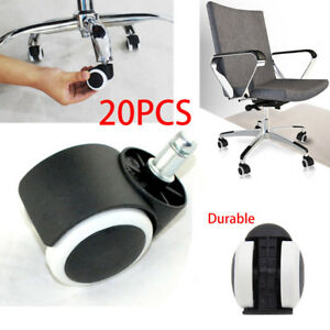 2 Office Home Chair Caster Wheel Protect Caster Swivel Rubber For Wooden Floor