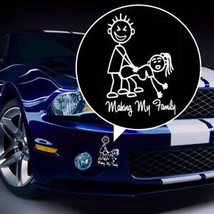 Making My Stick Family Funny Jdm Drift Euro Window Vinyl Decal Car Sticker